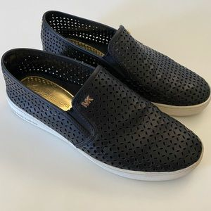 Michael Kors Perforated Leather Slip On Sneaker